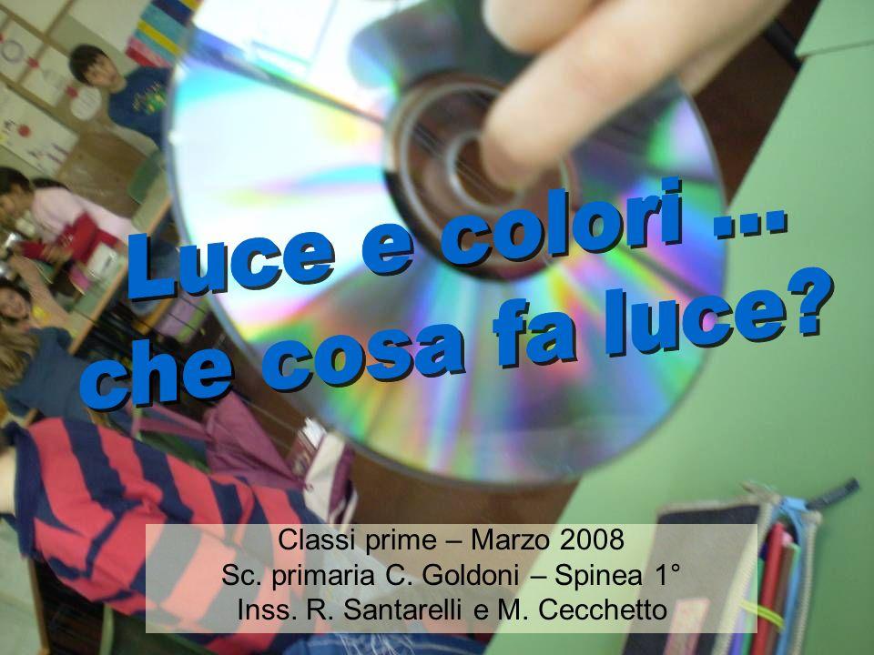 Luce e colori ... che cosa fa luce Classi prime – Marzo 2008