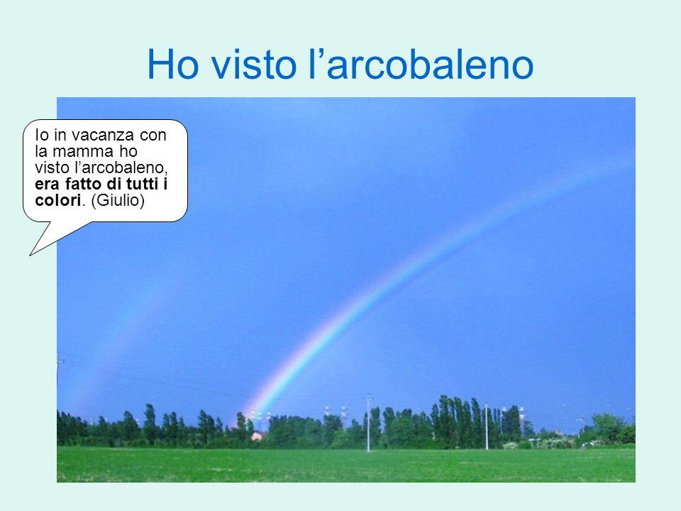 Ho visto l'arcobaleno Io in vacanza con la mamma ho visto l'arcobaleno, era fatto di tutti i colori.