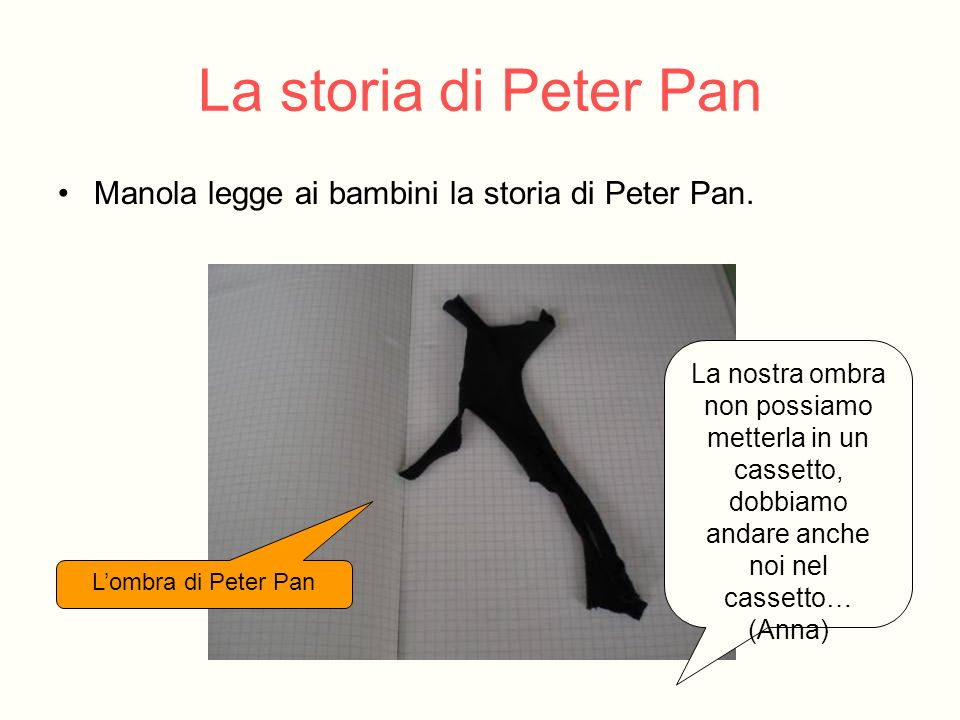 La storia di Peter Pan Manola legge ai bambini la storia di Peter Pan.