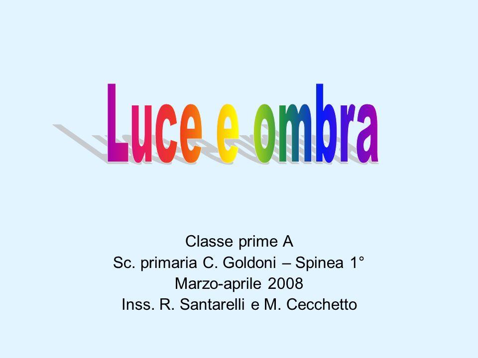 Luce e ombra Classe prime A Sc. primaria C. Goldoni – Spinea 1°