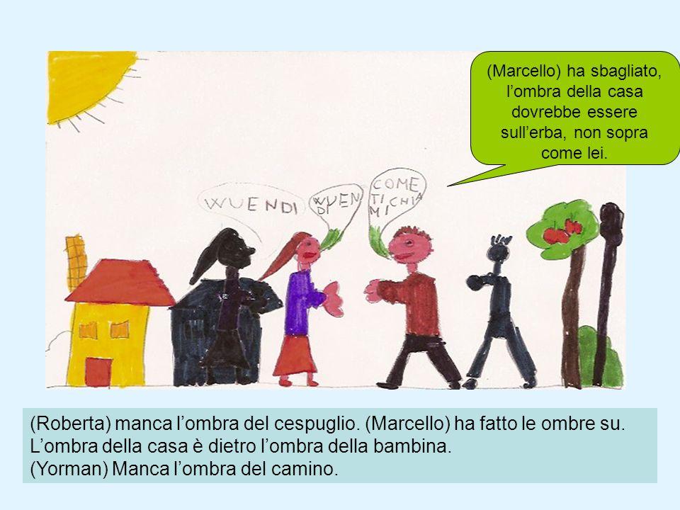 (Marcello) ha sbagliato, l'ombra della casa dovrebbe essere sull'erba, non sopra come lei.