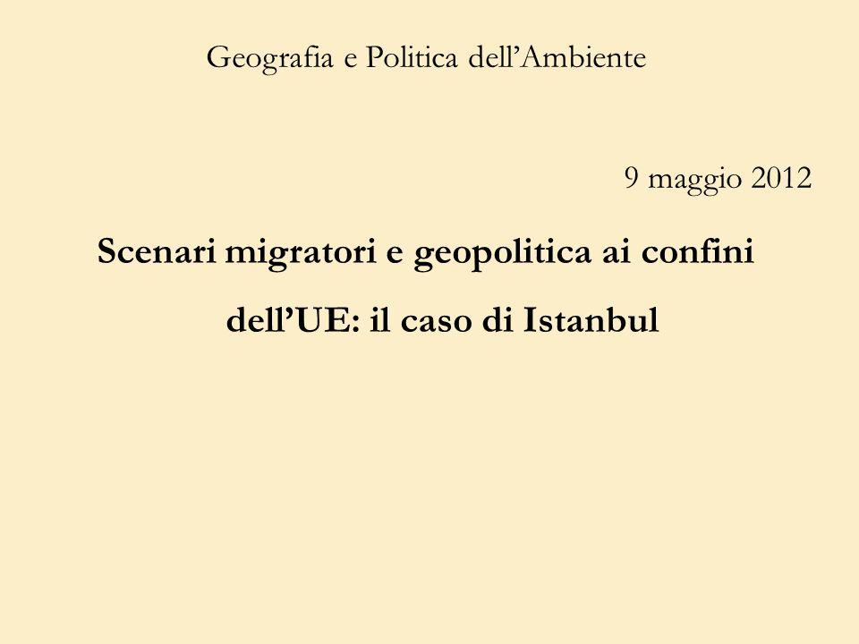 Geografia e Politica dell'Ambiente 9 maggio 2012
