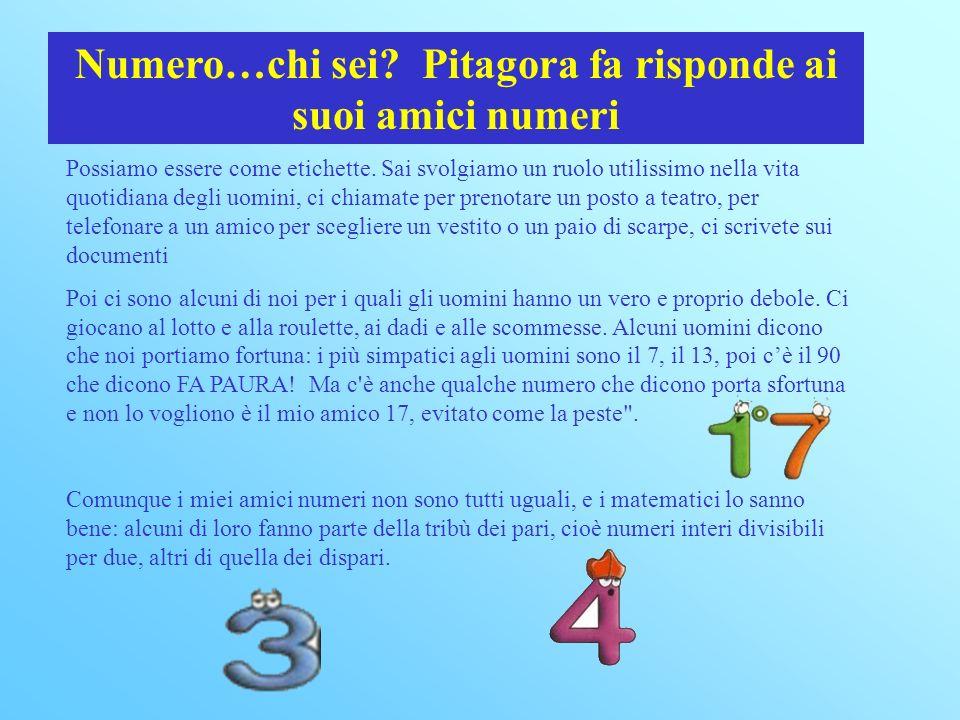 Numero…chi sei Pitagora fa risponde ai suoi amici numeri