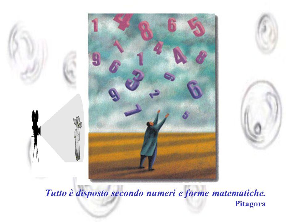 Tutto è disposto secondo numeri e forme matematiche. Pitagora