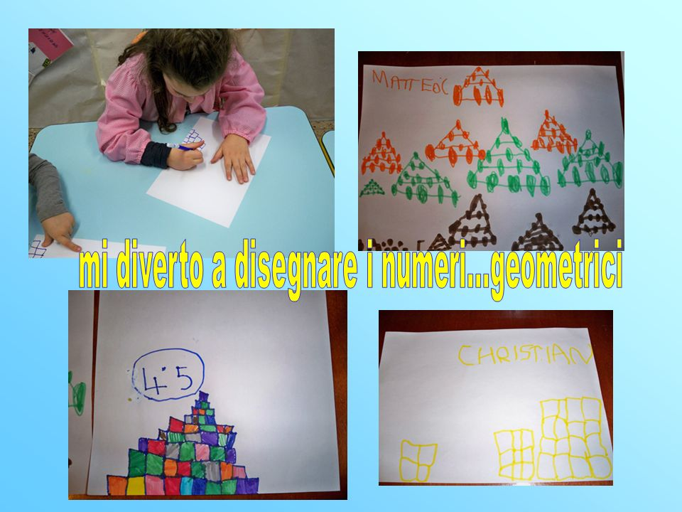 mi diverto a disegnare i numeri...geometrici
