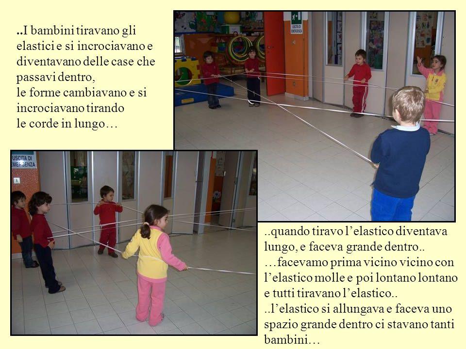 ..I bambini tiravano gli elastici e si incrociavano e diventavano delle case che passavi dentro,