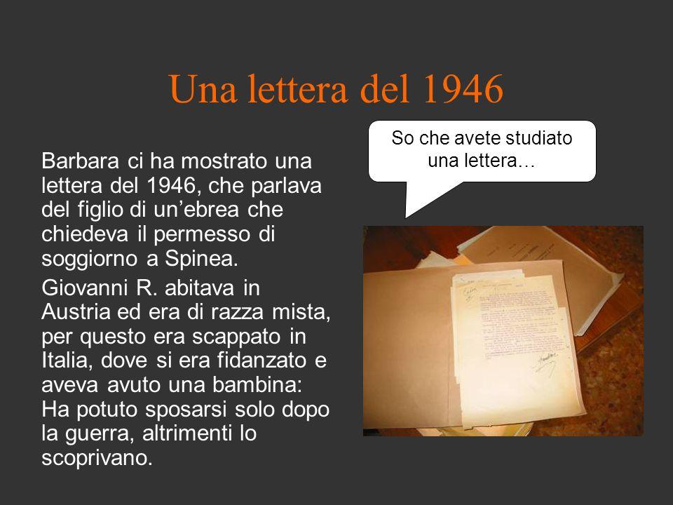 So che avete studiato una lettera…