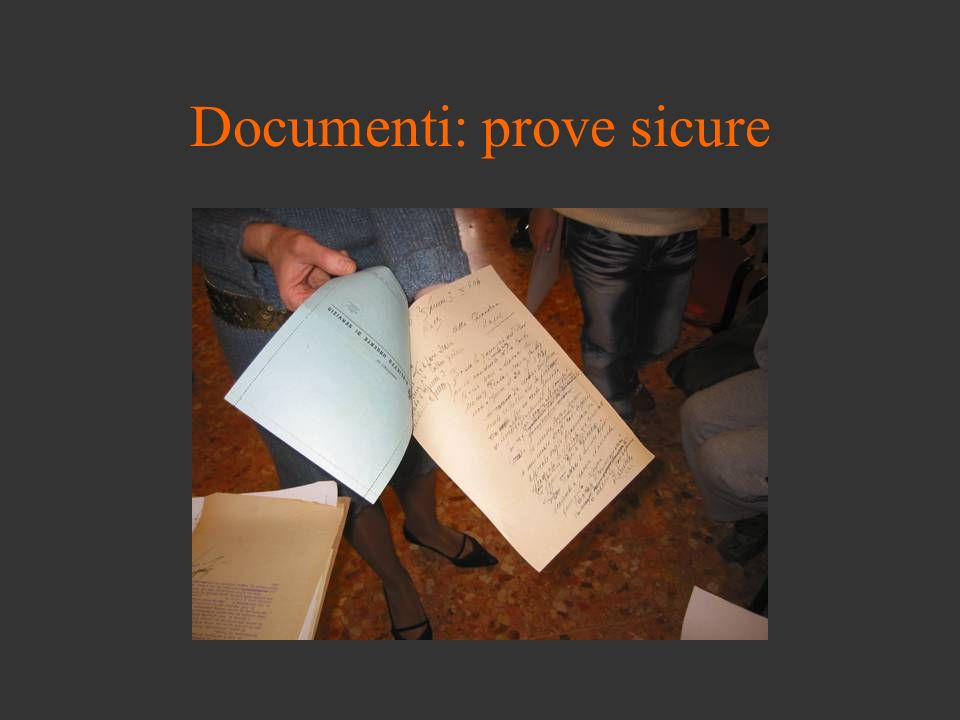 Documenti: prove sicure