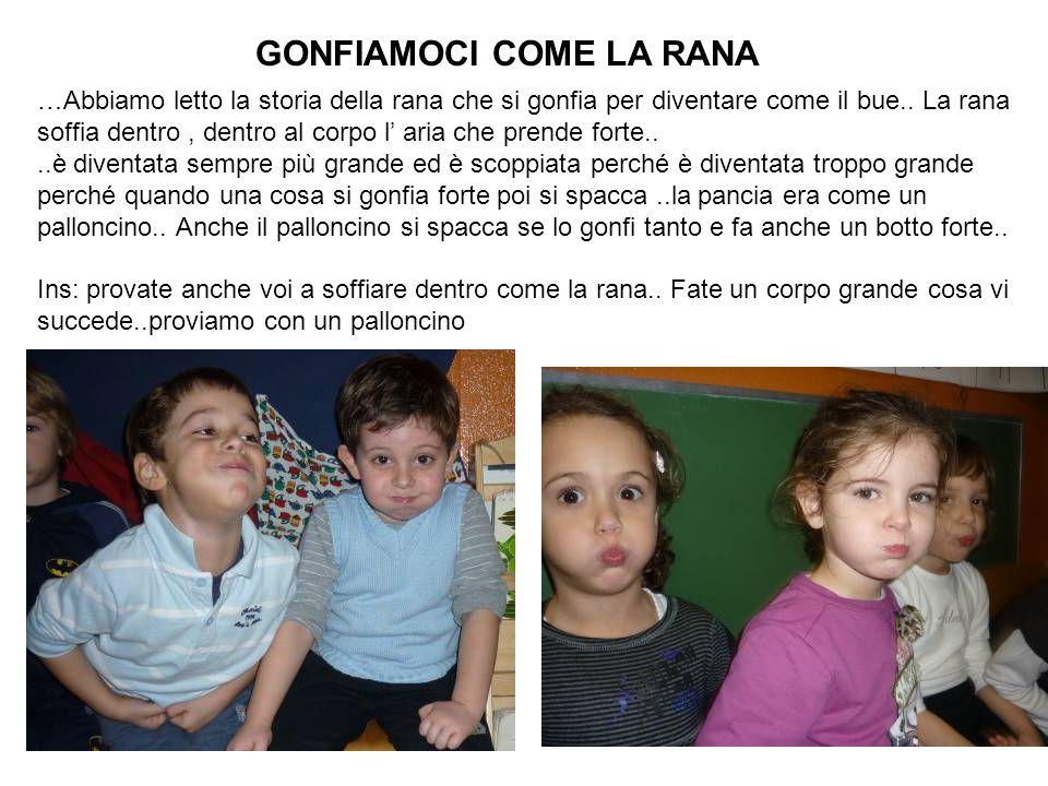 GONFIAMOCI COME LA RANA