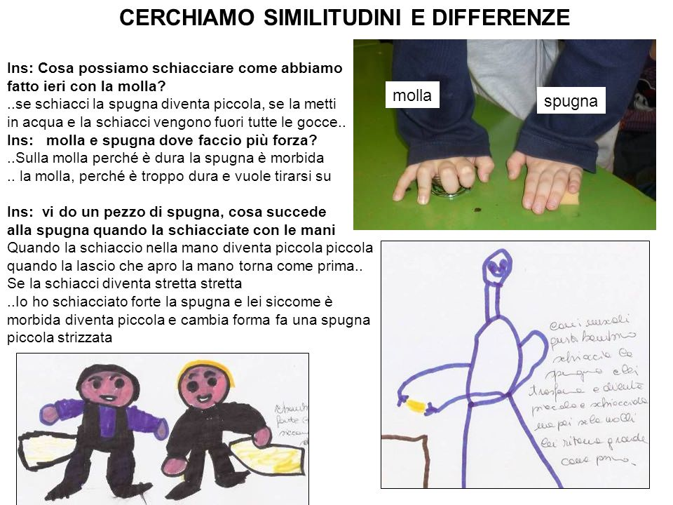 CERCHIAMO SIMILITUDINI E DIFFERENZE