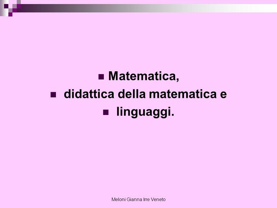 didattica della matematica e