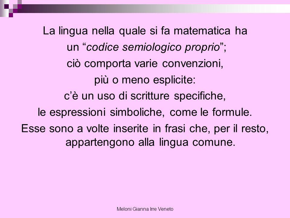 La lingua nella quale si fa matematica ha