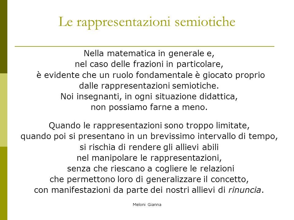 Le rappresentazioni semiotiche