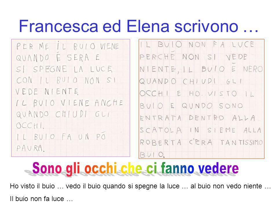 Francesca ed Elena scrivono …
