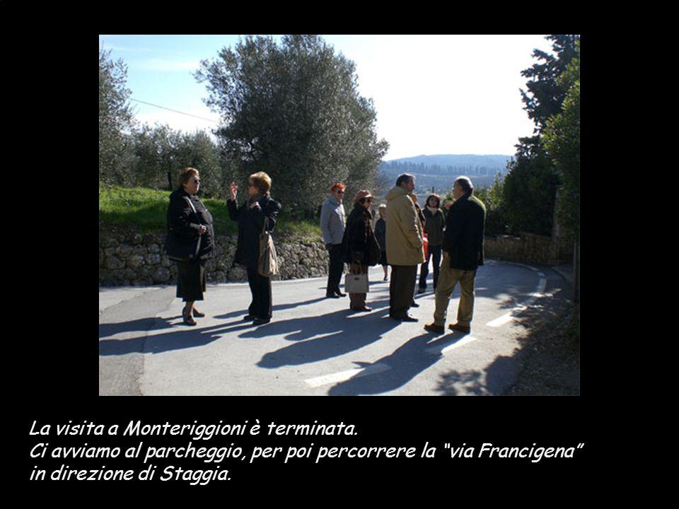 La visita a Monteriggioni è terminata.