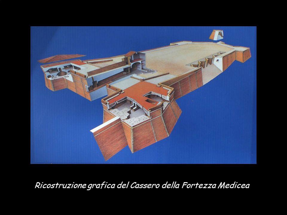 Ricostruzione grafica del Cassero della Fortezza Medicea