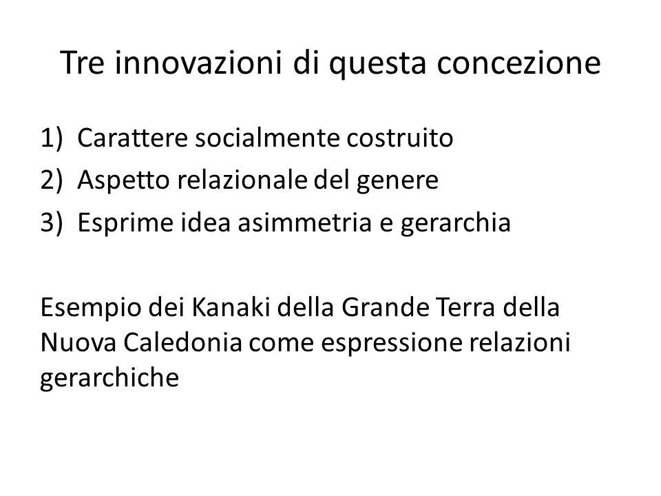 Tre innovazioni di questa concezione