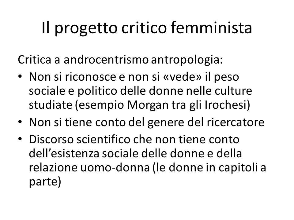 Il progetto critico femminista