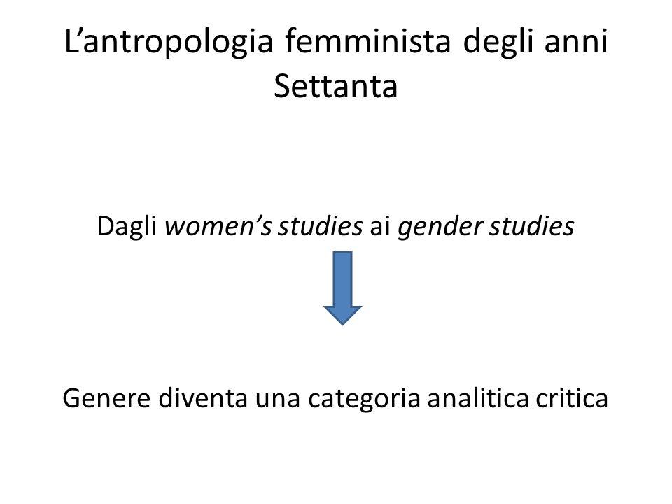 L'antropologia femminista degli anni Settanta