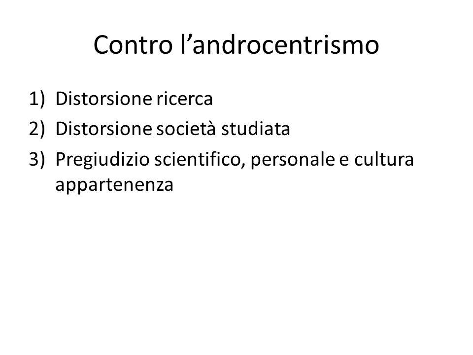 Contro l'androcentrismo