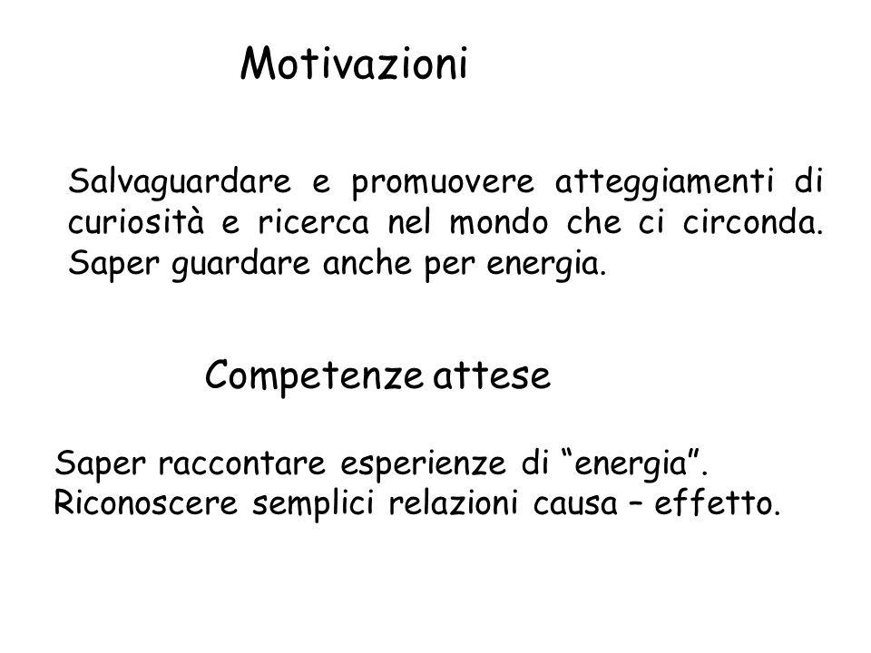 Motivazioni Competenze attese