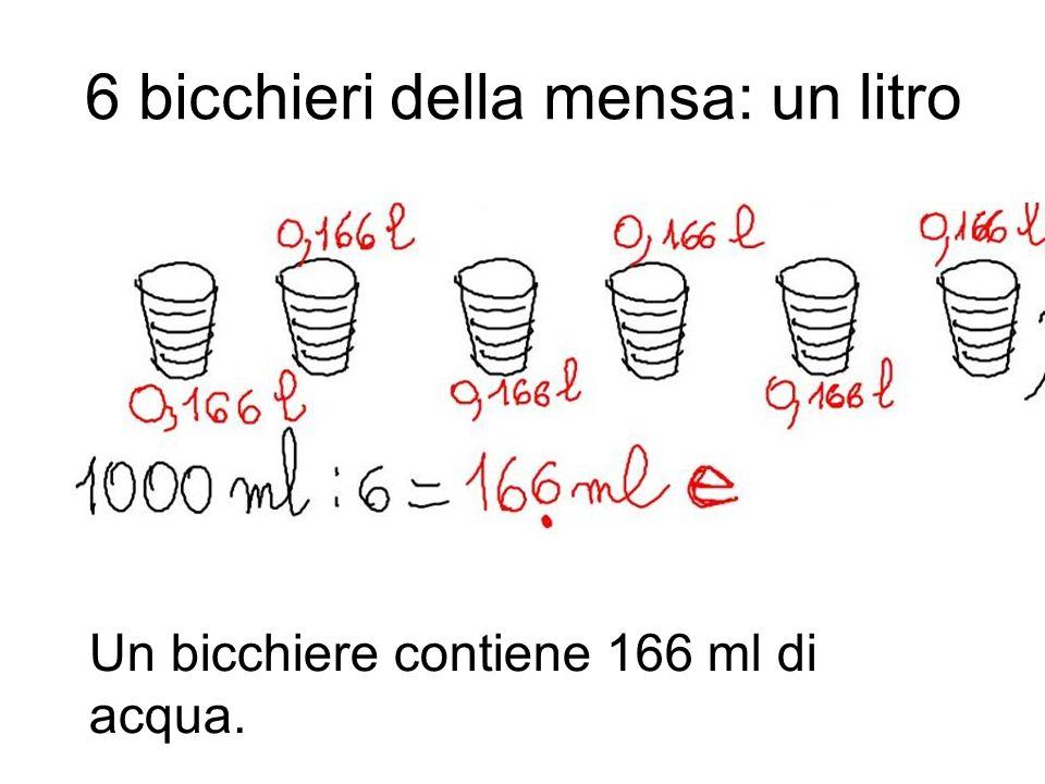 6 bicchieri della mensa: un litro