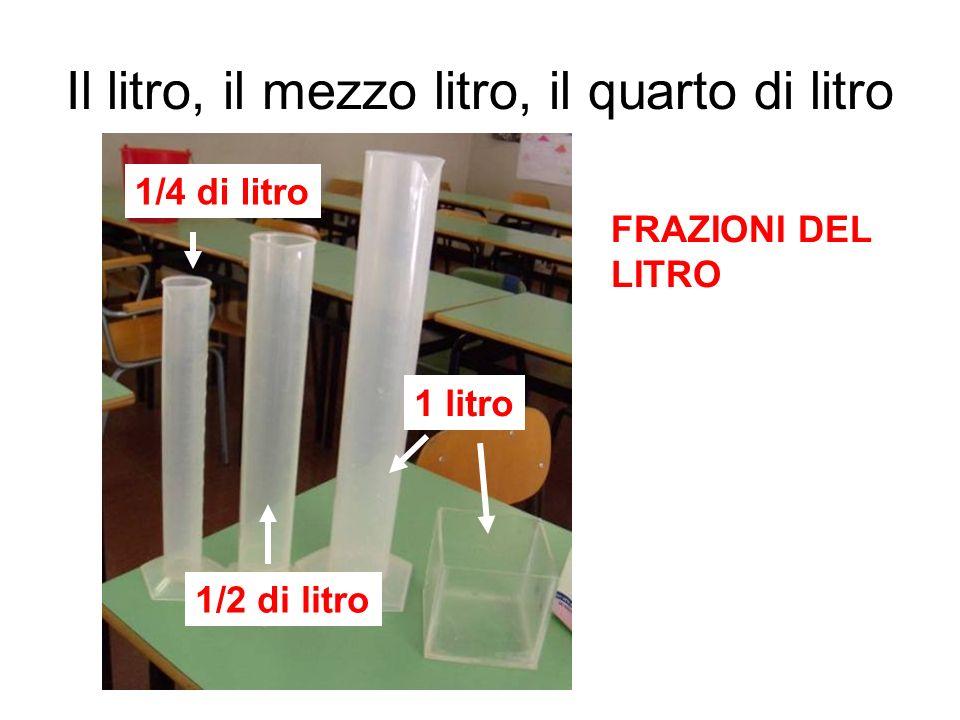Il litro, il mezzo litro, il quarto di litro