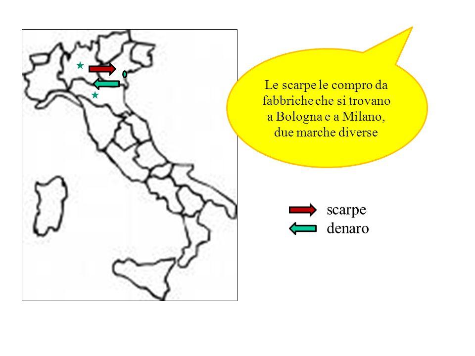 Le scarpe le compro da fabbriche che si trovano a Bologna e a Milano, due marche diverse