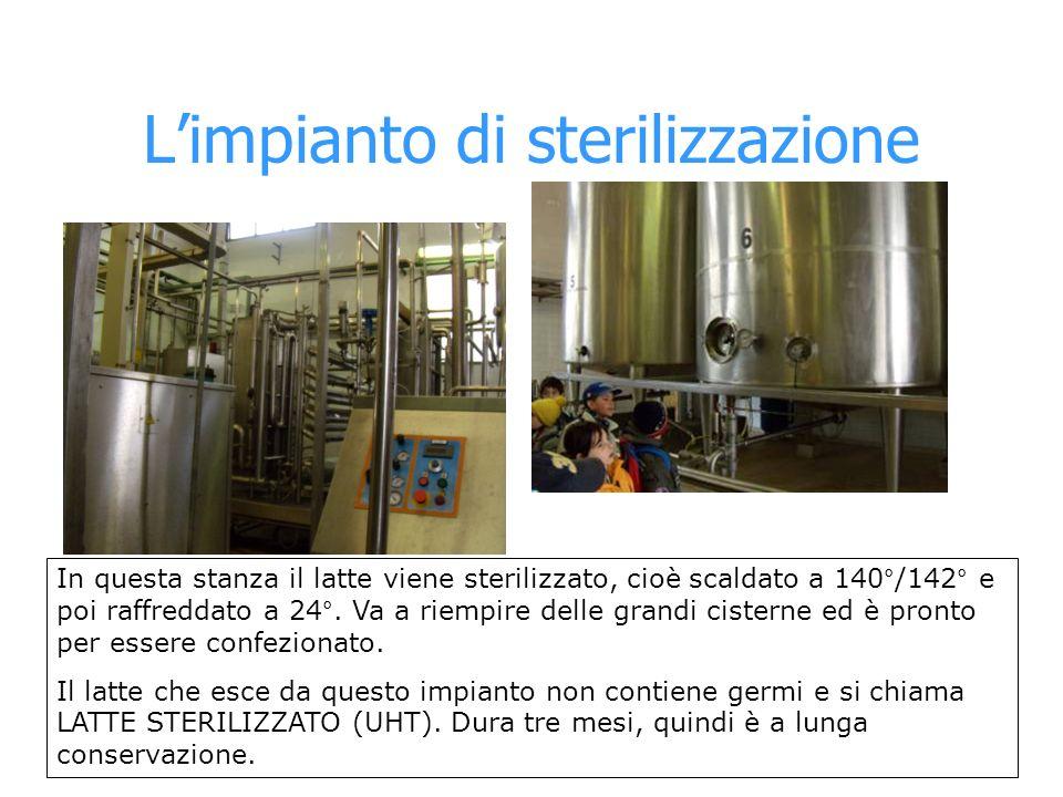 L'impianto di sterilizzazione