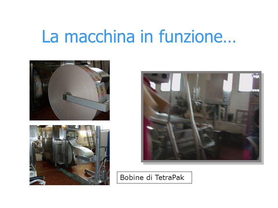 La macchina in funzione…