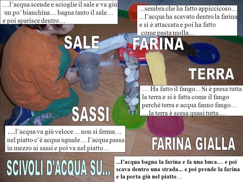 SALE FARINA TERRA SASSI FARINA GIALLA SCIVOLI D ACQUA SU...