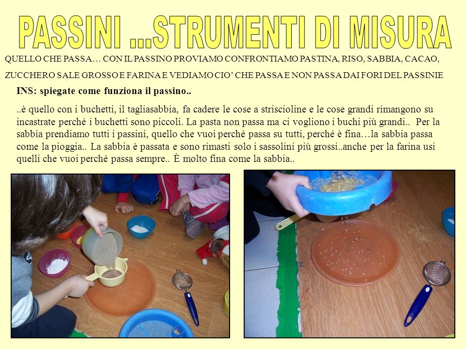 PASSINI ...STRUMENTI DI MISURA