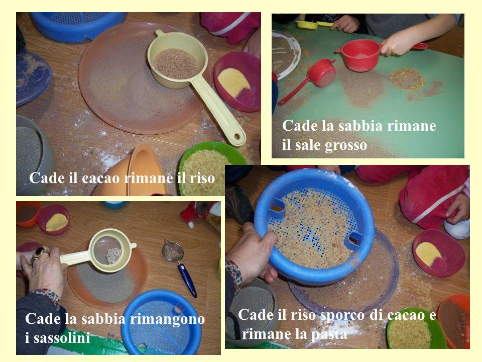 Cade la sabbia rimane il sale grosso. Cade il cacao rimane il riso. Cade il riso sporco di cacao e.