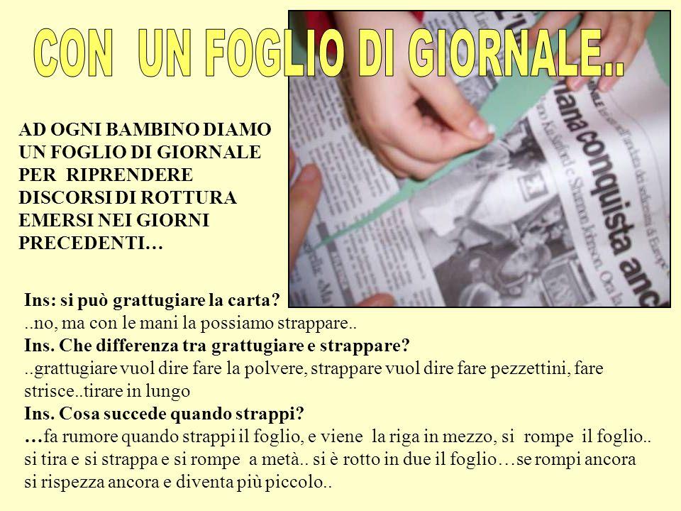 CON UN FOGLIO DI GIORNALE..