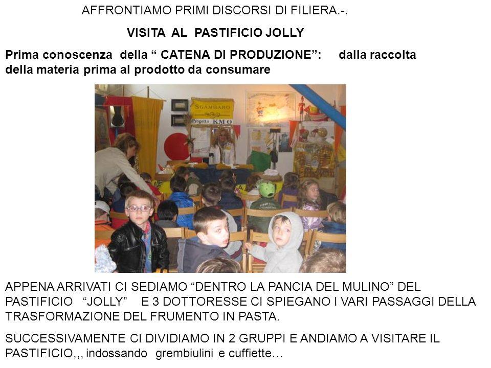 AFFRONTIAMO PRIMI DISCORSI DI FILIERA.-. VISITA AL PASTIFICIO JOLLY