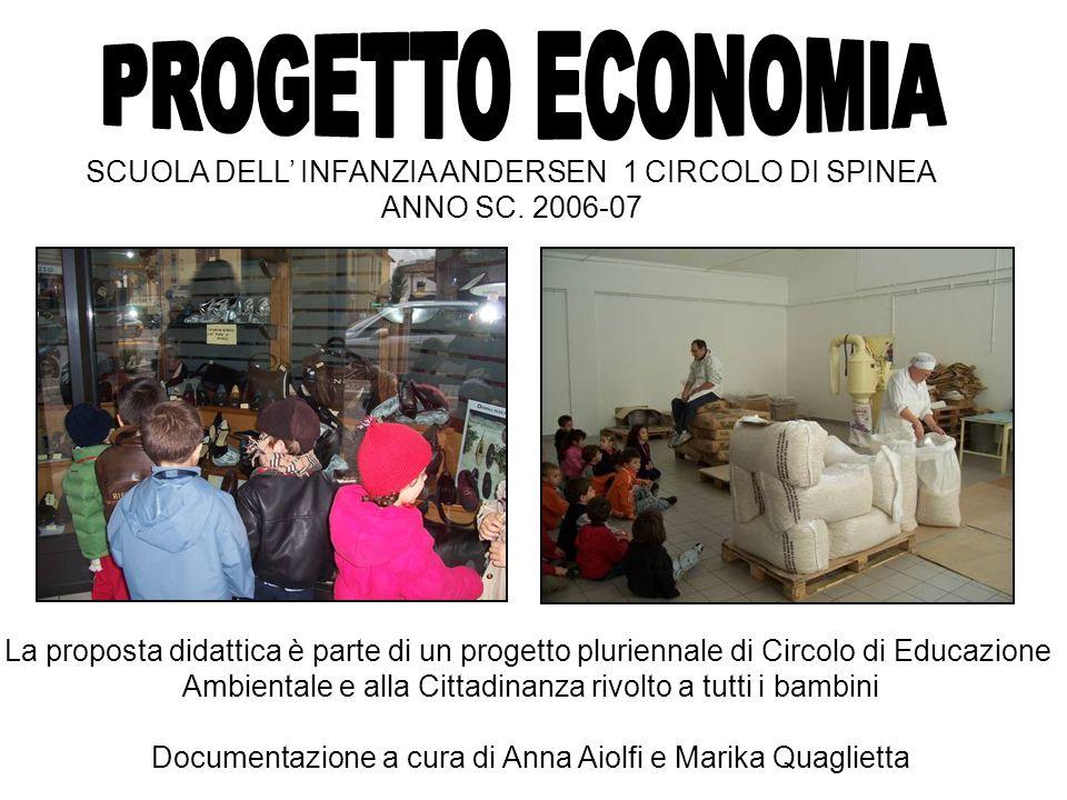 PROGETTO ECONOMIA SCUOLA DELL' INFANZIA ANDERSEN 1 CIRCOLO DI SPINEA