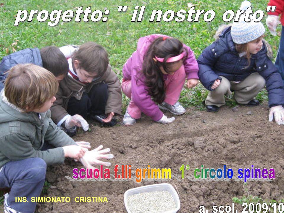 progetto: il nostro orto