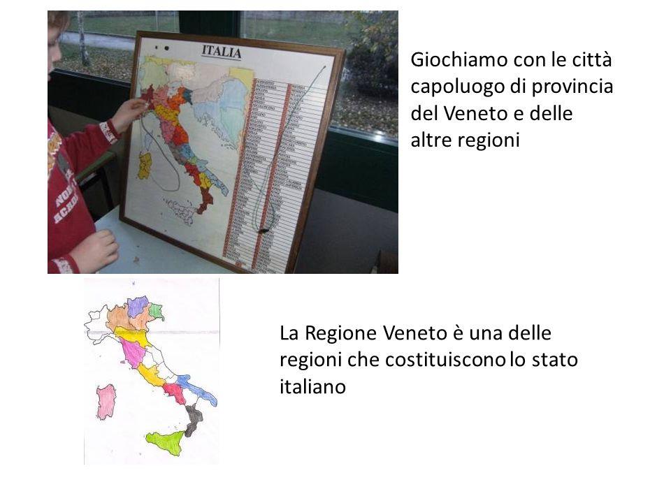 Giochiamo con le città capoluogo di provincia del Veneto e delle altre regioni