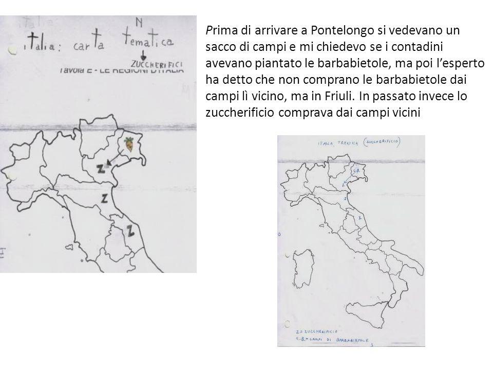Prima di arrivare a Pontelongo si vedevano un sacco di campi e mi chiedevo se i contadini avevano piantato le barbabietole, ma poi l'esperto ha detto che non comprano le barbabietole dai campi lì vicino, ma in Friuli.