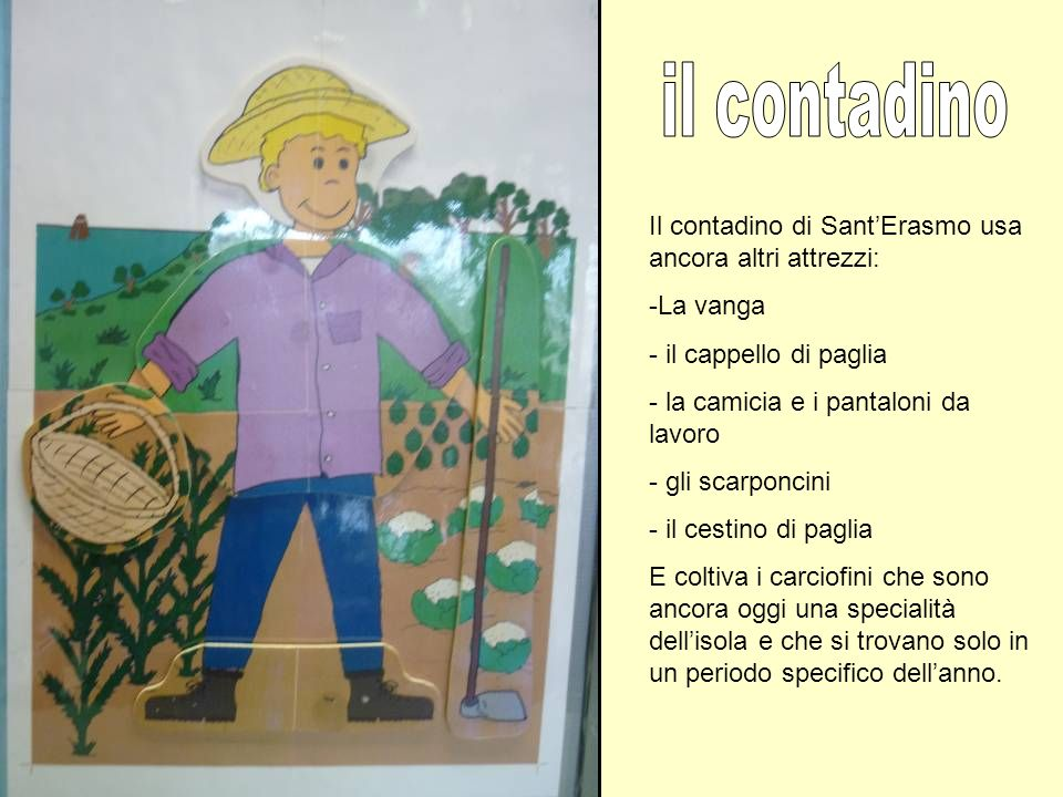 il contadino Il contadino di Sant'Erasmo usa ancora altri attrezzi: