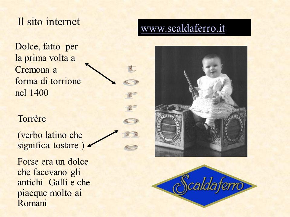 torrone Il sito internet www.scaldaferro.it