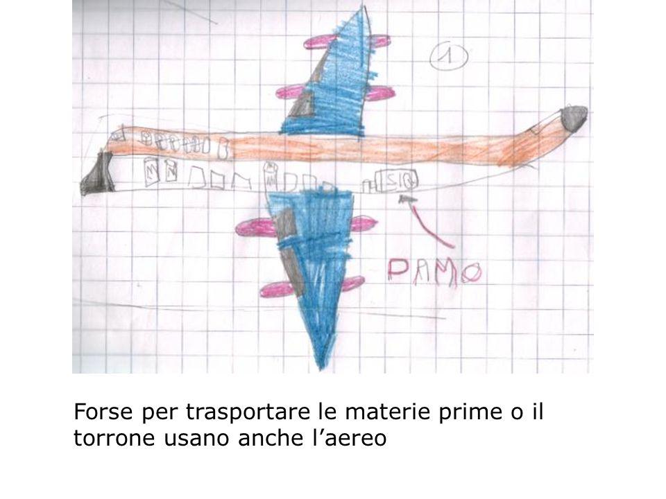 Forse per trasportare le materie prime o il torrone usano anche l'aereo