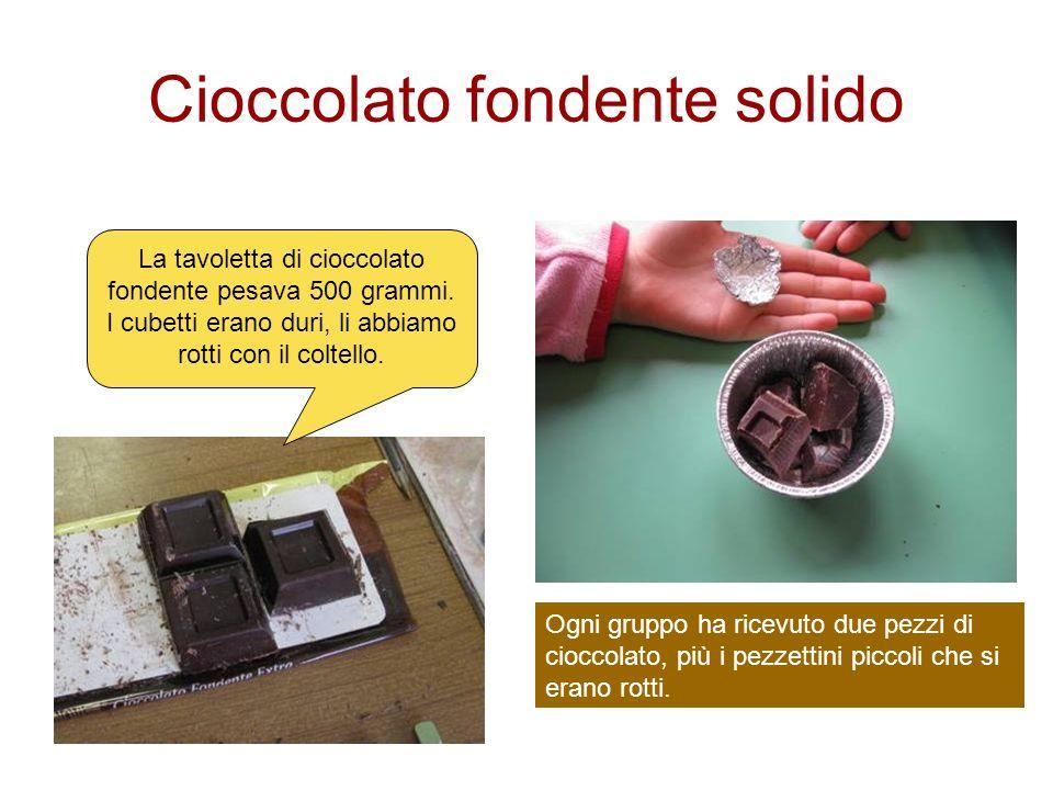 Cioccolato fondente solido