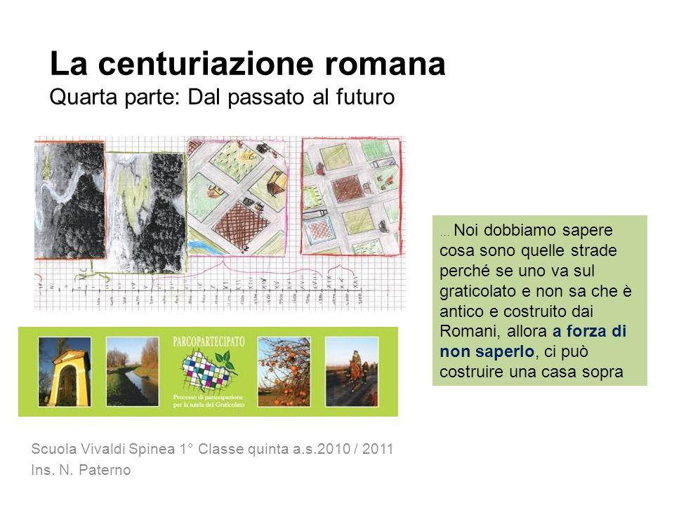 La centuriazione romana Quarta parte: Dal passato al futuro