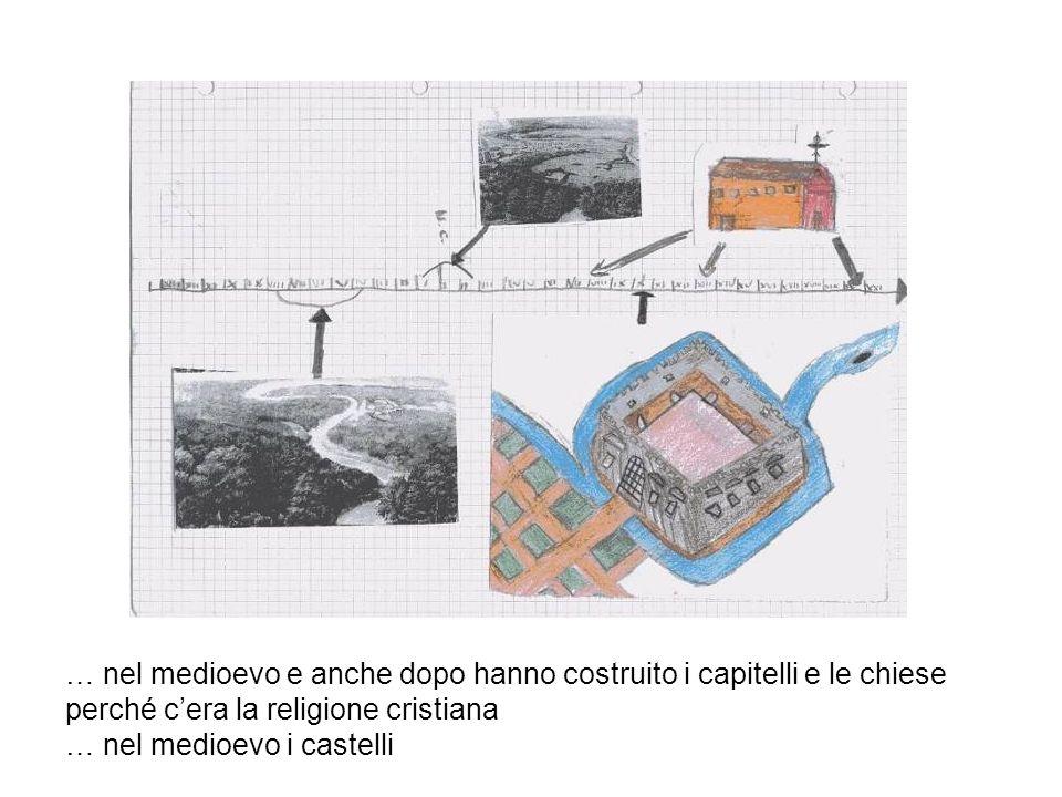 … nel medioevo e anche dopo hanno costruito i capitelli e le chiese perché c'era la religione cristiana
