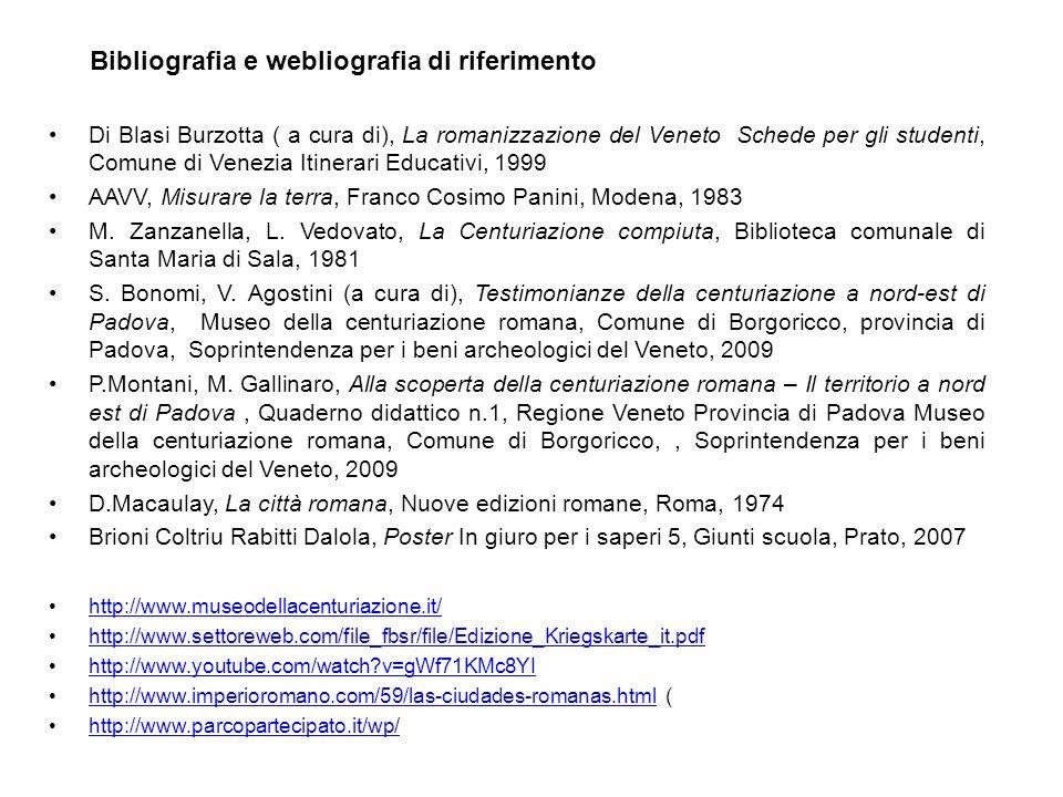 Bibliografia e webliografia di riferimento