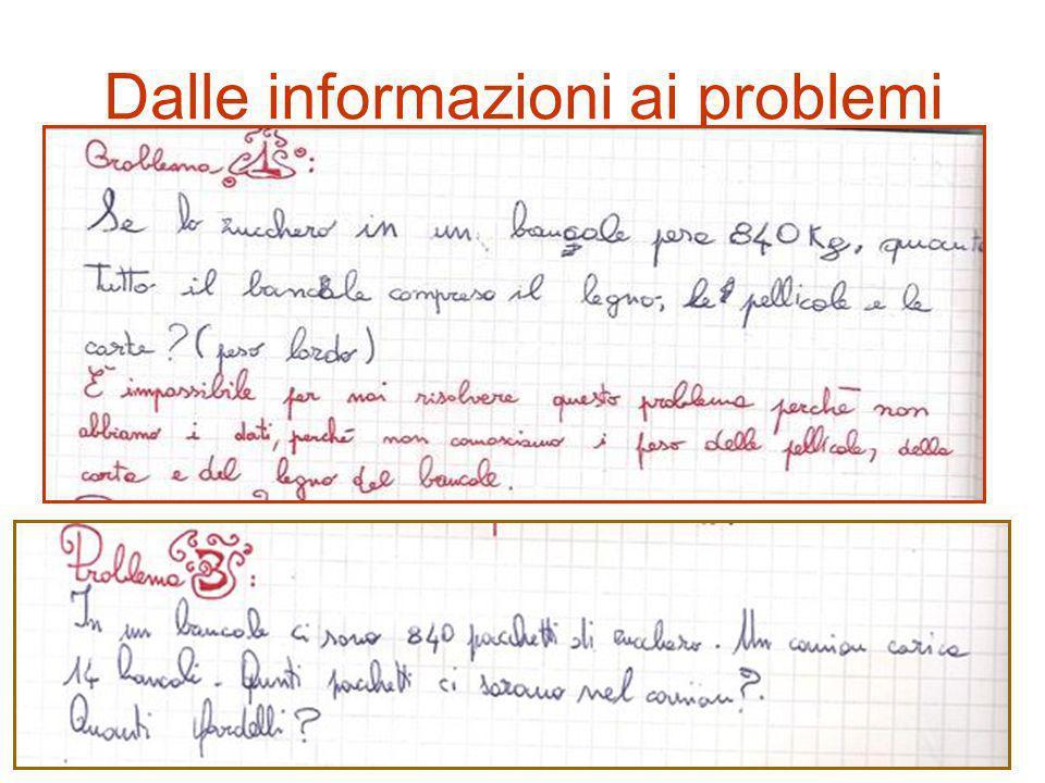 Dalle informazioni ai problemi