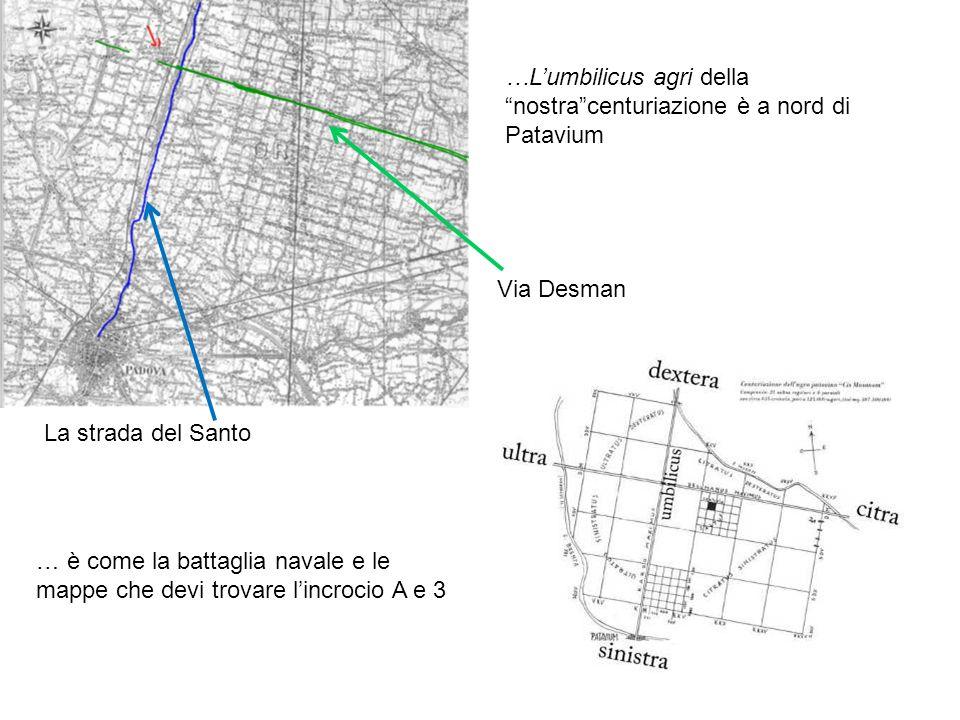 …L'umbilicus agri della nostra centuriazione è a nord di Patavium