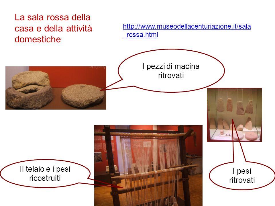La sala rossa della casa e della attività domestiche