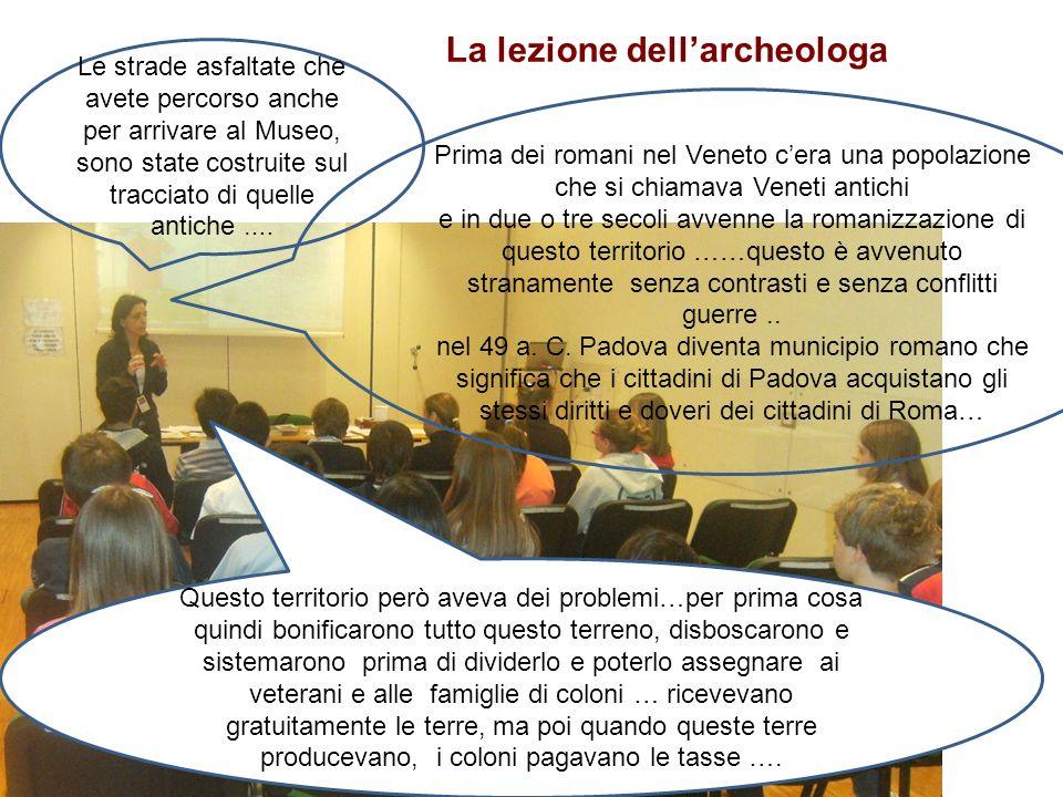 La lezione dell'archeologa